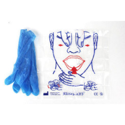 RESQ-AID CPR Face Shield With Latex Free Gloves