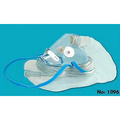 Oxygen High Concentration 100% Non-Rebreathing Mask With 7' Sure Flow Tubing & 2 Side Valves