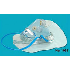 Oxygen High Concentration 100% Non-Rebreathing Mask With 7' Sure Flow Tubing & 1 Side Valve Pediatric