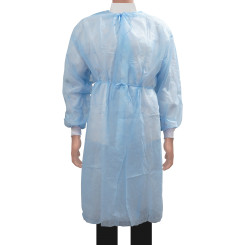 Medbec Disposable Isolation Gown With Knitted Cuffs - Individually Wrapped