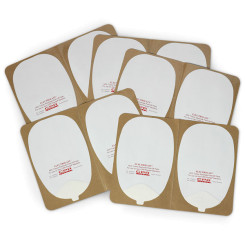 "ElectroLast™ AED Trainer ""Skin"" Electrode Peel-Off Pads - Heartstream Style"