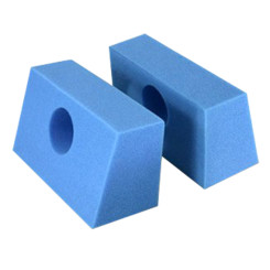 Disposable Foam Head Blocks, Blue, 18/cs