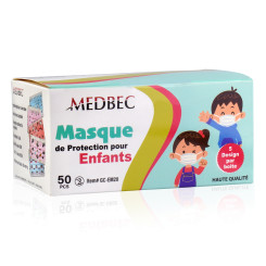Medbec Kids Protective Colorfull Face Mask, 5 Designs - Box Of 50