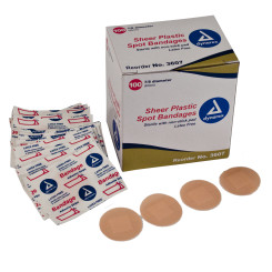 "Sheer Spot Bandages Sterile, 7/8"", 48/100/Cs"