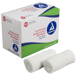 "Stretch Gauze Bandage Roll, 3"", 8/12/Cs (96)"