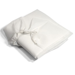 "Non-Woven Fitted Cot Sheet, 33"" x 89"" White w/elastic, 50/cs"