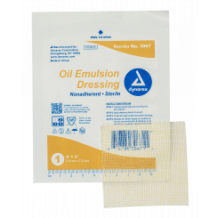 "Oil Emulsion Dressing, 3"" x 3"", 4/50/cs"