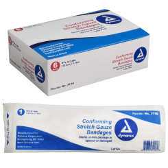 "Stretch Gauze Bandage Roll Sterile, 6"", 8/6/Cs (48)"