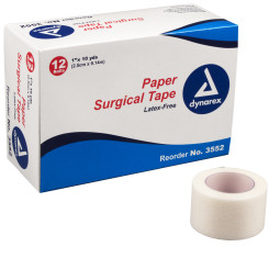 "Paper Surgical Tape, 1"" x 10 yds, 12/12/Cs"