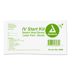 IV Start Kit w/PVC Gloves, 50/cs