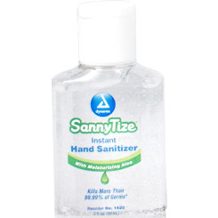 Hand Sanitizer, 2 oz - square bottle, 6/24/cs