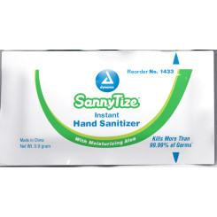 Hand Sanitizer, .9g -sachet, 12/144/cs