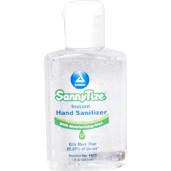 Hand Sanitizer, 1 oz - square, 6/24/cs